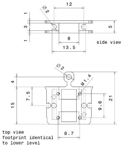 Sampleholder Hybride Block style and SHOM