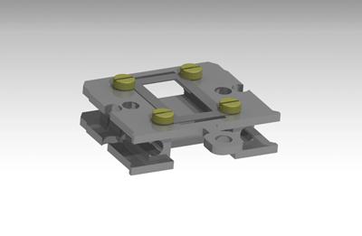 Flag style sample plate, 3xM1.4, leaf springs