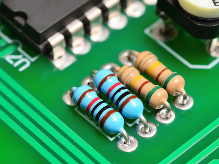 A second example of a plasma cleaned PCB panel to improve adhesive qualities