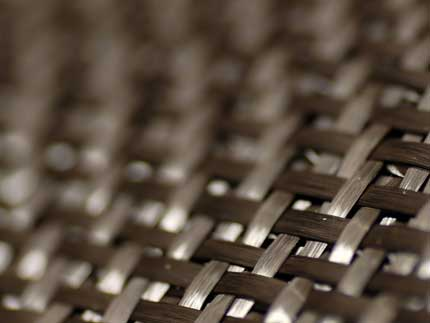 An image of a woven composite aerospace material