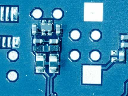 Plasma treated blue PCB panel to improve adhesive qualities