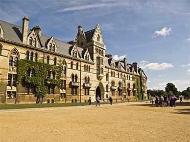 Christ Church college in Oxford, United Kingdom